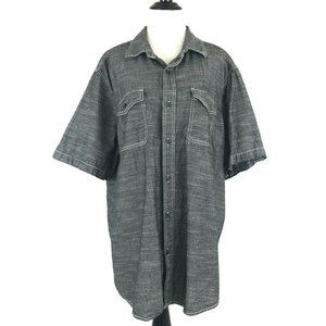 Woolrich Button Down Shirt Chambray Short Sleeves